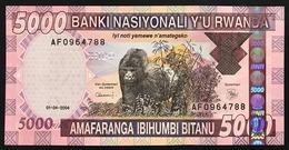 RUANDA RWANDA  5000 FRANCS 2004 Pick#33 Lotto.602 - Ruanda