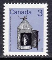 Canada 1982-7 Heritage Artefacts Definitives 3c Stable Lantern Value, MNH, SG 1056 - 1952-.... Reign Of Elizabeth II