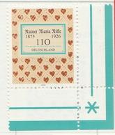 PIA - GER- 2000 : 125° Anniversario Della Nascita Del Poeta Reiner Maria Rilke  - (Yv 1986) - Nuovi