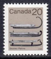 Canada 1982-7 Heritage Artefacts Definitives 20c Skates Value, MNH, SG 1059 - 1952-.... Reign Of Elizabeth II