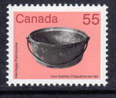 Canada 1982-7 Heritage Artefacts Definitives 55c Iron Kettle, MNH, SG 1066 - 1952-.... Reign Of Elizabeth II
