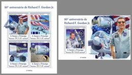 SAO TOME 2019 MNH Richard F. Gordon Apollo 12 Space Raumfahrt Espace M/S+S/S - OFFICIAL ISSUE - DH1934 - Afrika