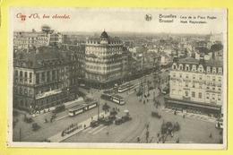 * Brussel - Bruxelles - Brussels * (Nels, Série 1, Nr 130) Cote D'or, Coin De La Place Rogier, Tram, Vicinal, Hotel - Bruxelles-ville