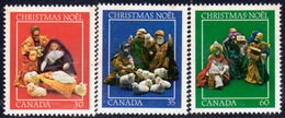 Canada 1982 Christmas Set Of 3, MNH, SG 1080/2 - 1952-.... Reign Of Elizabeth II