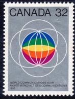 Canada 1983 World Communications Year, MNH, SG 1083 - 1952-.... Reign Of Elizabeth II