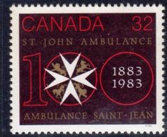 Canada 1983 St. John Ambulance Centenary, MNH, SG 1087 - 1952-.... Reign Of Elizabeth II