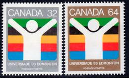 Canada 1983 World University Games, Edmonton Set Of 2, MNH, SG 1088/9 - 1952-.... Reign Of Elizabeth II