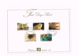 First Day Sheet.Minéraux.Yvert 3167/71 - FDC