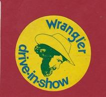 Sticker Autocollant Wrangler Drive-in-show Jeans Pants  Cowboy Western Aufkleber - Autocollants