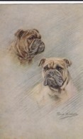 AS91 Animals - Dog - 2 Dogs, Artist Signed Persis Kirmse - Dogs