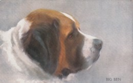 "AS91 Animals - Dog - ""Big Ben"", St. Bernard, Artist Signed Persis Kirmse - Chiens"