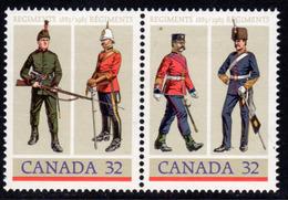 Canada 1983 Canadian Army Regiments Pair, MNH, SG 1114/5 - 1952-.... Reign Of Elizabeth II