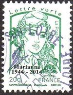 Oblitération Cachet à Date Sur Timbre De France N° 4774_aa - Marianne De La Jeunesse. Vert 20g.Taille Douce Surchargé - Used Stamps