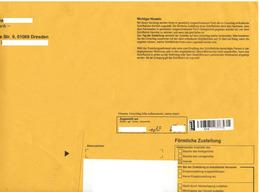 Bund / Post Modern [01129 Dresden]: 'Förmliche Zustellung [Verwaltungszustellung], 2019' / 'Delivery With Proof' - Privados & Locales