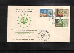 Turkey 1970 European Conservation Year FDC - Umweltschutz Und Klima