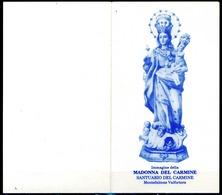 SANTINO - Madonna Del Carmine - Santino Pieghevole Con Preghiera Come Da Scansione. - Devotion Images