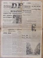Journal Défense De La France (22/23 Oct 1944) Budapest - Troubles Catalogne - Gén. De Larminat - Luxembourg - Kranten