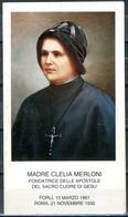 SANTINO - Madre Clelia Merloni - Santino Con Preghiera Come Da Scansione. - Devotion Images
