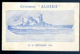 Invitation Bal à Bord Du Croiseur Algérie Le 23 Septembre 1934  JM34 - Faire-part