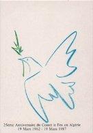 MILITARIA-Carte Postale 25è Anniversaire Du Cessez Le Feu En Algérie-19 Mars 1962-19 Mars 1987 - Other Wars