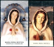 SANTINO - Maria SS. Rosa Mistica - 2 Santini Con Preghiera Come Da Scansione. - Images Religieuses