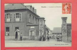 HESDIN 1914 CASERNE DE LA FREZELIERE CARTE EN TRES BON ETAT - Hesdin