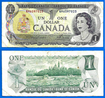 Canada 1 Dollar 1973 Serie NM Dollars Elizabeth 2 Queen Que Prix + Port - Canada