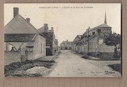 CPA 45 - SANDILLON - L'Eglise Et La Rue De La Villette - TB PLAN Rue CENTRE VILLAGE + Détails Maisons - France