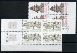 RC 13447 FRANCE SERVICE N° 108 / 109 NEPAL - AFGHANISTAN COINS DATÉS NEUF ** - Esquina Con Fecha