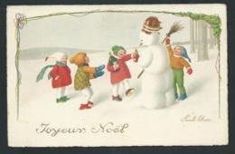 Joyeux Noël , Illustration Signée Pauli Ebner  - Obe3228 - Ebner, Pauli