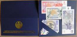 Set Of 6 Unc 1993 Banknotes From Kyrgyzstan In Special Folder Issued Of The National Bank 1, 10 & 50 Tyiyn 1, 5 &amp - Kirgizïe