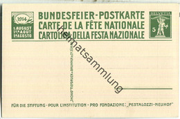 Bundesfeier-Postkarte 1914 - 5 Cts Pestalozzi In Stans - Pestalozzi-Stiftung Neuhof - Ganzsachen