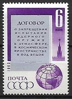 RUSSIE  /   URSS    -   1963 .  Y&T N° 2737 **.    Interdiction Des Expériences Nucléaires. - 1923-1991 URSS