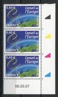 RC 13461 FRANCE SERVICE N° 136 CONSEIL DE L'EUROPE A LA FACIALE NEUF ** - Esquina Con Fecha