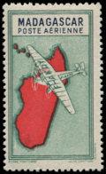 MADAGASCAR Poste Aérienne ** - 29a, Sans La Valeur: (2f.) Bleu-vert Et Bleu - Cote: 108 - Madagascar (1889-1960)