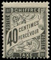 FRANCE Taxe * - 19, Signé Scheller: 40c. Noir - Cote: 240 - Taxes