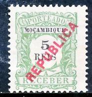 !■■■■■ds■■ Mozambique Postage Due 1916 AF#21(*) Local Ovrprt 5 Réis (x2563) - Mozambique