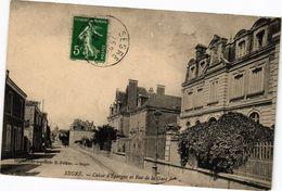 CPA SEGRE - Caisse D'Epargue Et Rue De La Gare (207339) - Segre