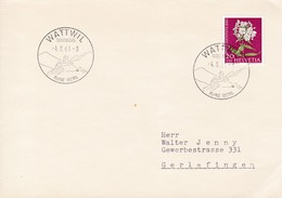 "Brief Mit Mi: 724/ Zu: J185. Phlox.  K Stempel: Wattwil "" Ruine Iberg "" - Pro Juventute"