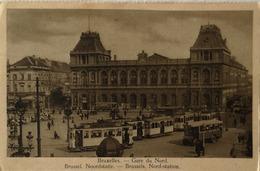 Bruxelles // Gare Du Nord (Tram - Autobus) 19?? Ed. Simon - Vervoer (openbaar)