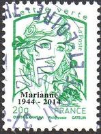 Oblitération Cachet à Date Sur Timbre Sur Marianne De La Jeunesse N° 4774_be - Lettre Verte, 20g. Héliographie Surchargé - 2013-... Marianne (Ciappa-Kawena)