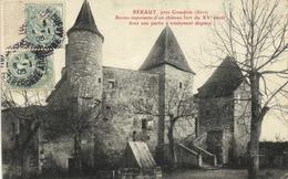 BERAUT  Près Cobdom (Gers) Restes Imposants D'un Chateau Fort Du XVe S Dont Une Partie A Totalement Disparu RV - France