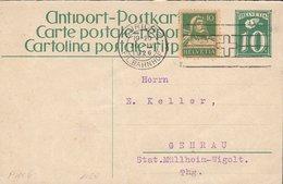 SCHWEIZ  MiNr. P 108 A Mit ZFr. Und Stempel: Zürich 30.IV.1926 - Ganzsachen