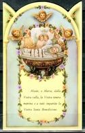 SANTINO - Maria SS. Bambina - Santino Pieghevole Con Preghiera, Come Da Scansione. - Santini
