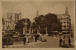 Oostende - Ostende / Place Marie Jose Et Monument Beernaert (Tram - Automobile - Police?) 1937 Zeldzaam - Oostende