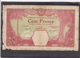 AOF French West Africa 100 Fr 1926 DAKAR  VG - West-Afrikaanse Staten