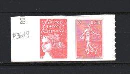 N° P36-   ( 1.00 € )   Marianne De Luquet Et Centenaire Semeuse De Roty - Sellos Autoadhesivos