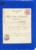 ##(DAN199)-Austria 1896- 5 Kreuzer Lettercard Used From Maxau To Marburg - 1850-1918 Empire