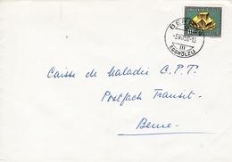 1947 Brief Mit Mi: 658 / Zu: B87.  Flusspat. Gestempelt In Bern 24 Egghölzli - Storia Postale
