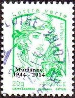 Oblitération Cachet à Date Sur Timbre De France N° 4774_bd - Marianne De La Jeunesse. Vert 20g. Offset Surchargé - France